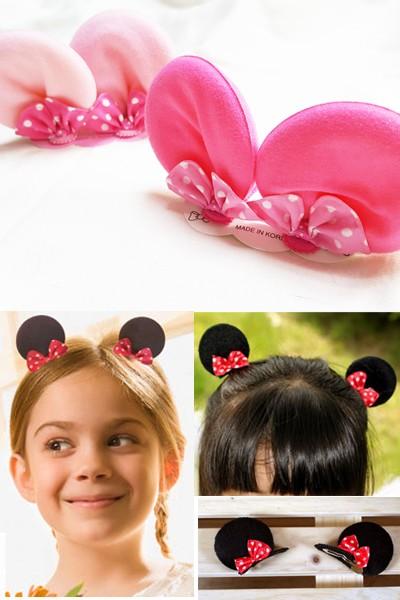 特大耳朵動物立體造型髮夾 (一組2入)