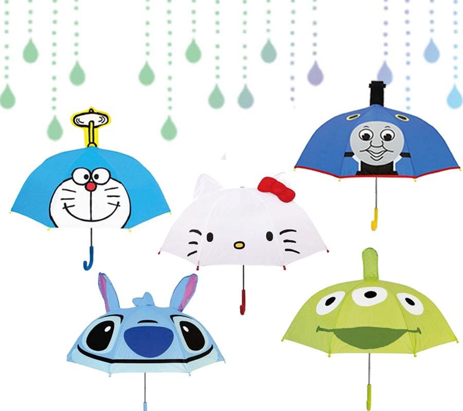 湯瑪士小火車/史迪奇/三眼怪/蹦蹦兔/妖怪手錶/皮卡丘/閃電麥坤米妮/史奴比 造型兒童直傘 (傘骨47CM)