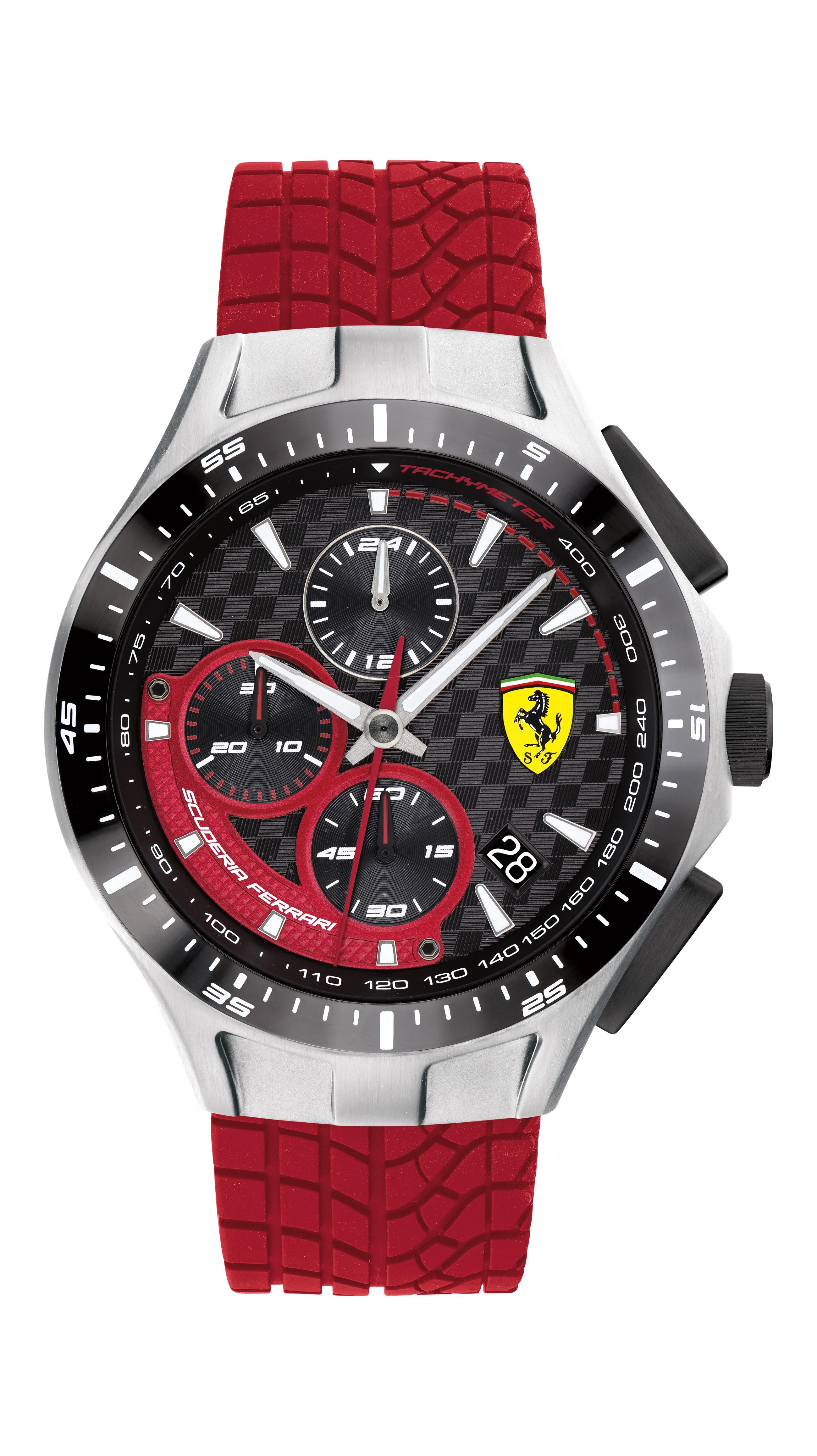 Ferrari 法拉利 賽車急速計時手錶-44mm(0830697)