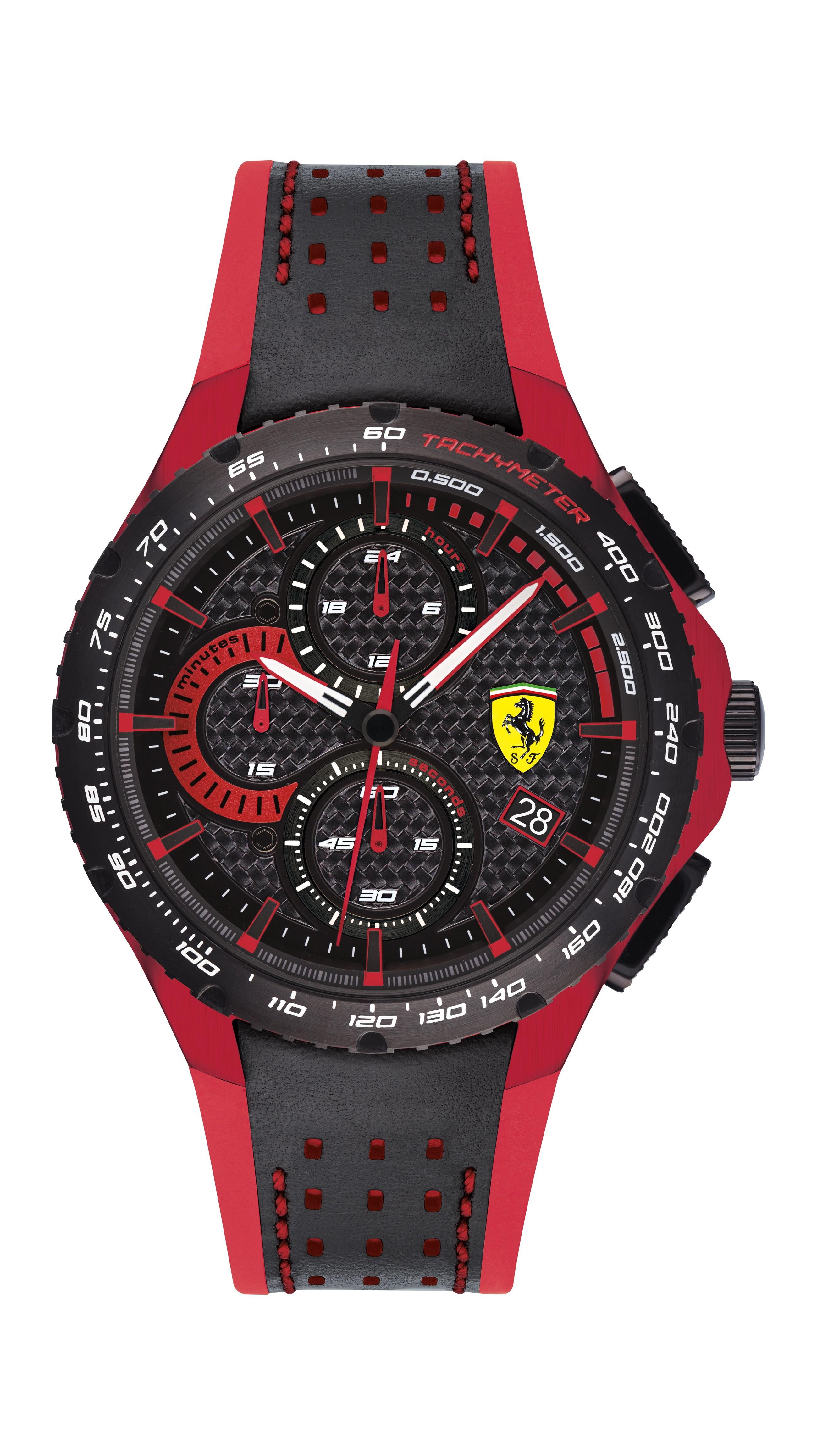Scuderia Ferrari Pista黑色/紅色男士手錶(830733)