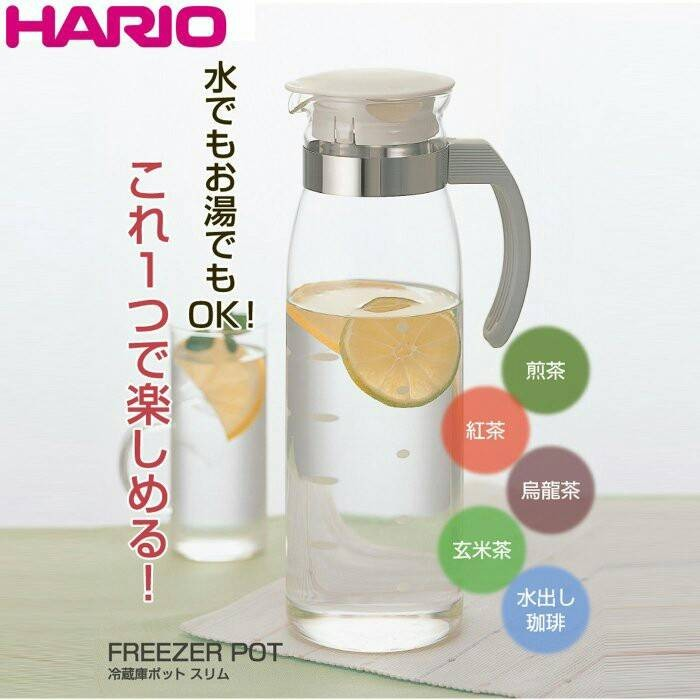 HARIO RPLN-14 直立式耐熱玻璃冷水壺1400ml