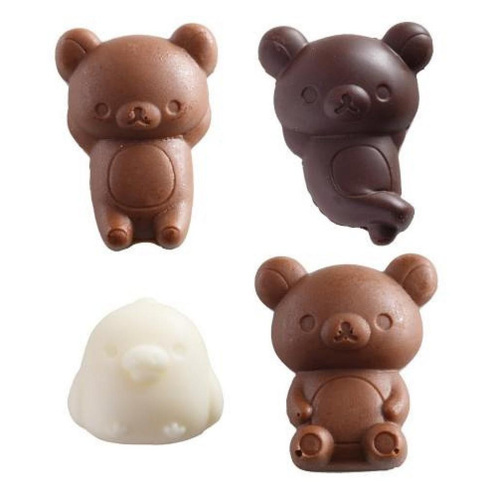 拉拉熊 RILAKKUMA 造型矽膠巧克力壓模(4種造型)