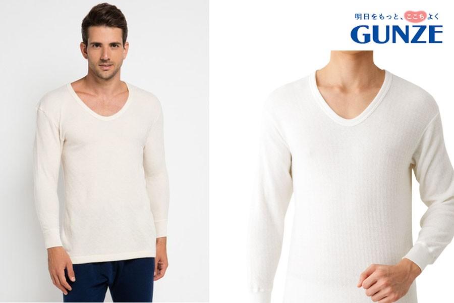 GUNZE郡是日本製混羊毛男衛衣M.L