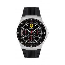 Ferrari 法拉利 奔馳日曆手錶-黑x42mm(08305373)