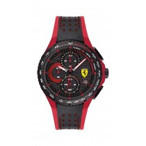 Scuderia Ferrari Pista黑色/紅色男士手錶(08307331)