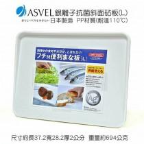 K-2321A 日本製造ASVEL奈米銀抗菌斜面砧板(L)