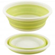 KAKUSEE 可折疊收納式 洗菜籃(綠)